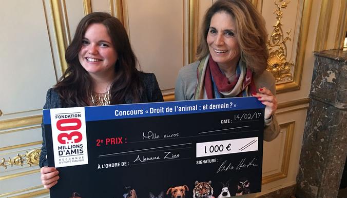 Reha Hutin et Alexane Zins, 2e lauréate. © DR