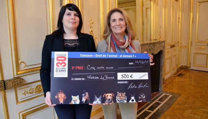 Reha Hutin et Mathilde Le Briand, 3e lauréate. © DR